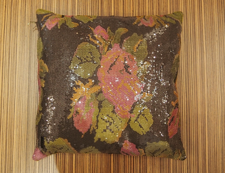 Kenzo, cushion with sequins.