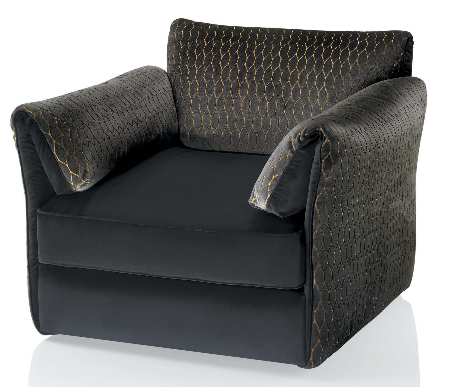 kenzo maison cannes armchair with quilted cover