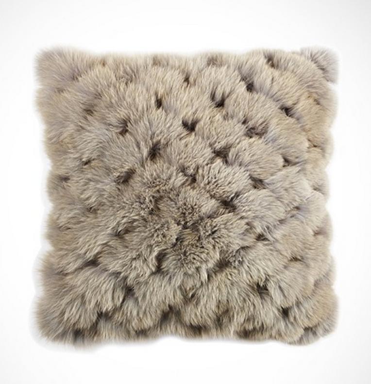 Fendi Casa Blue Fox Fur Pillow