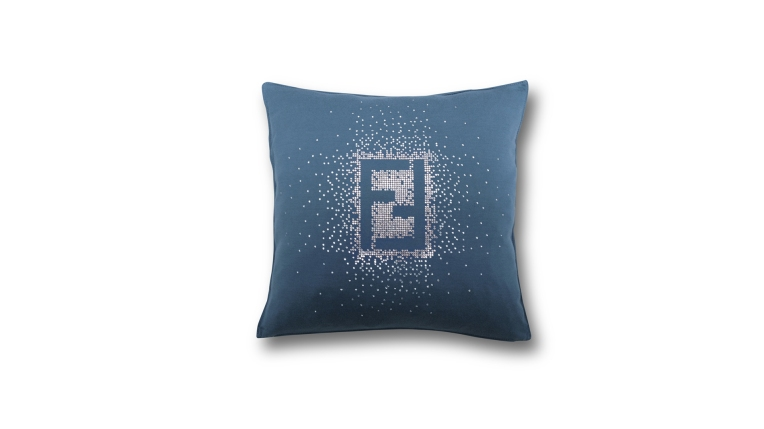 Fendi Casa Swarovski Logo Cushion