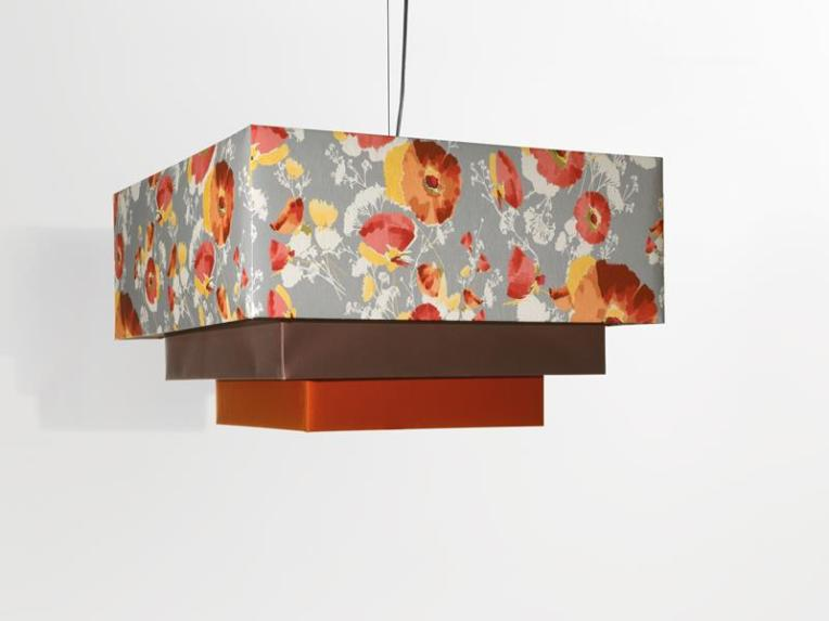 Kimono Suspension Lamp in Silk