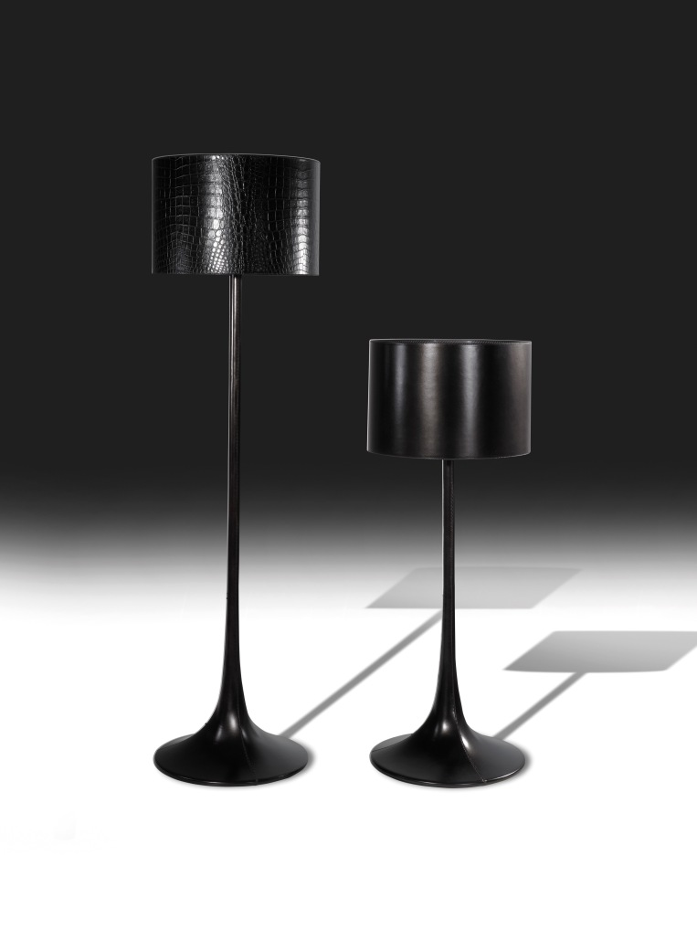 Fendi Casa, Astra Leather Standing Lamps