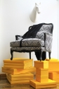 Custom Missoni Home Upholstered Bergere Chair