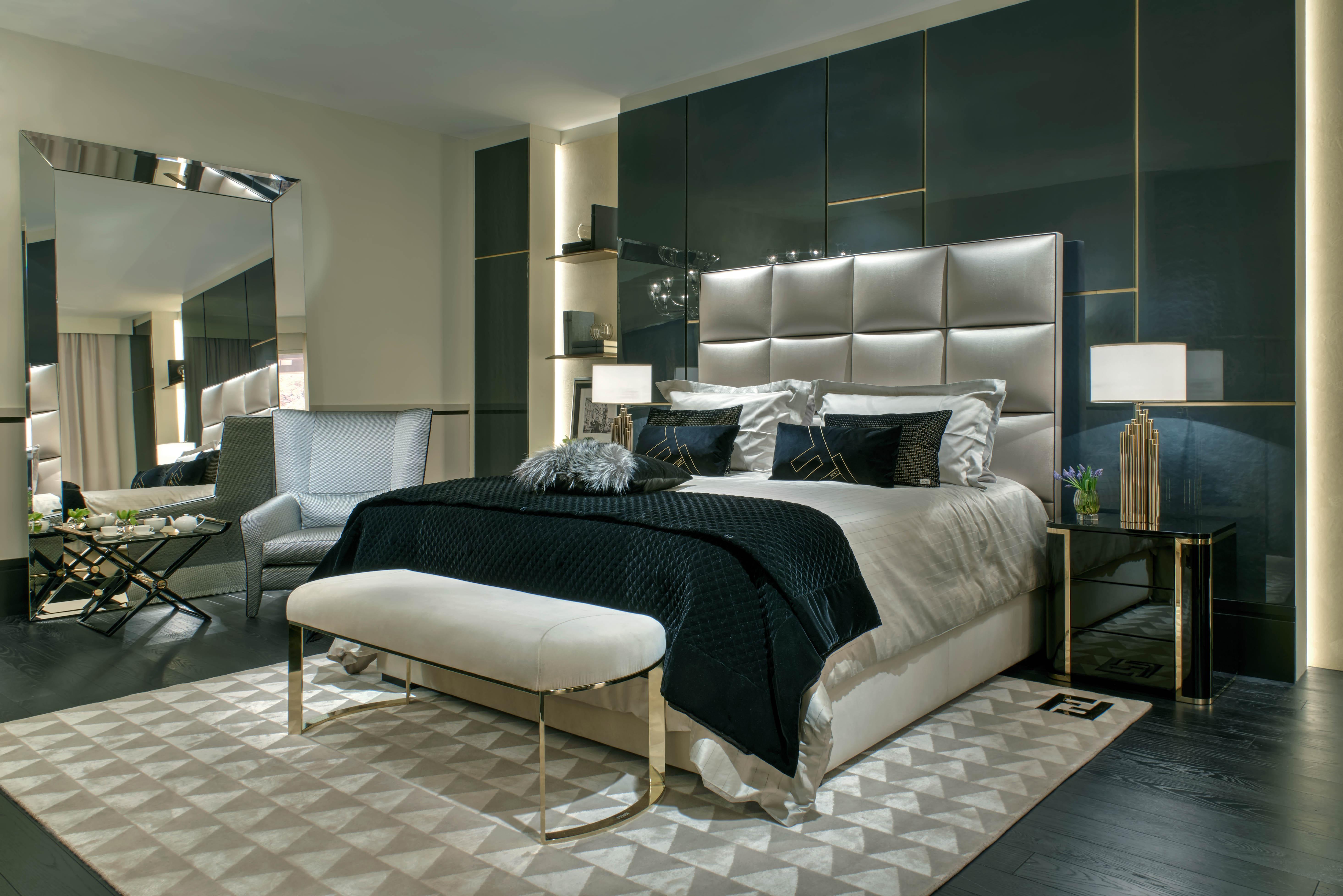 Fendi casa spring 2015 collection at salone del mobile for Fendi casa bedroom